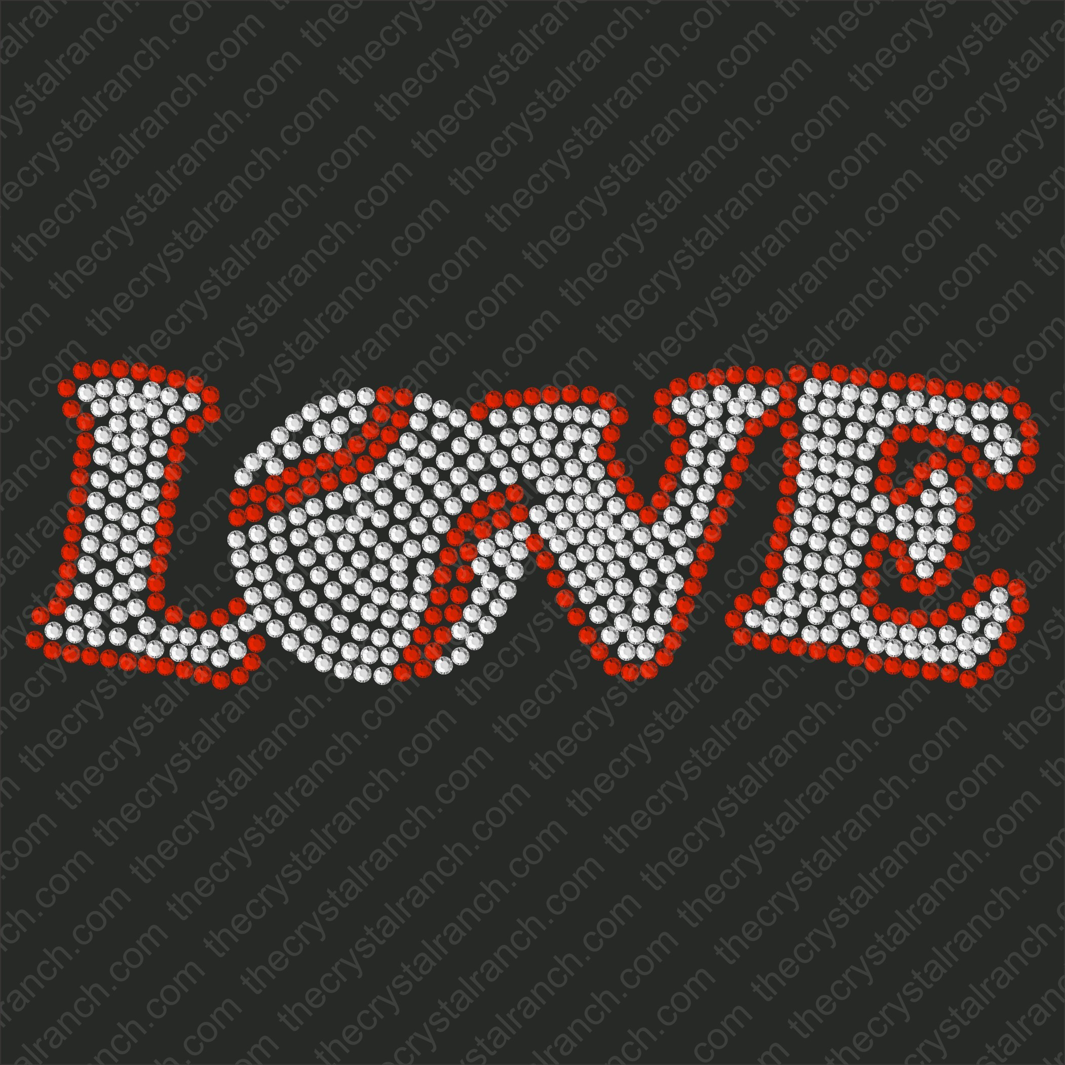 D003 Baseball Love Rhinestone Decal