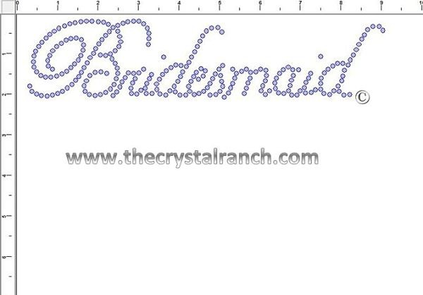 Bridesmaid Rhinestone Transfer CRF015