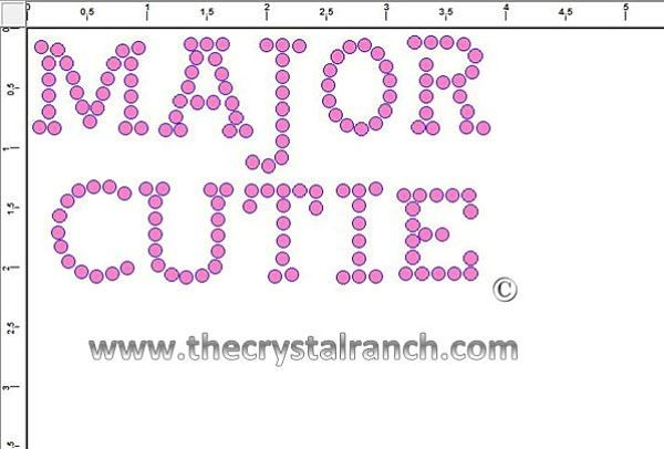 Major Cutie Rhinestone Transfer CRF026