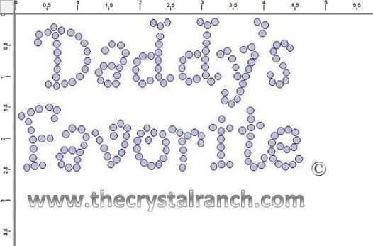 Daddy's Favorite Rhinestone Transfer CRF029