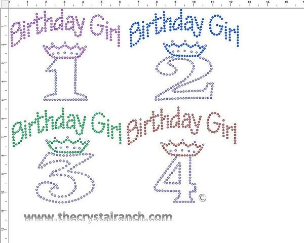 Birthday Girl  Rhinestone Transfer CRF044