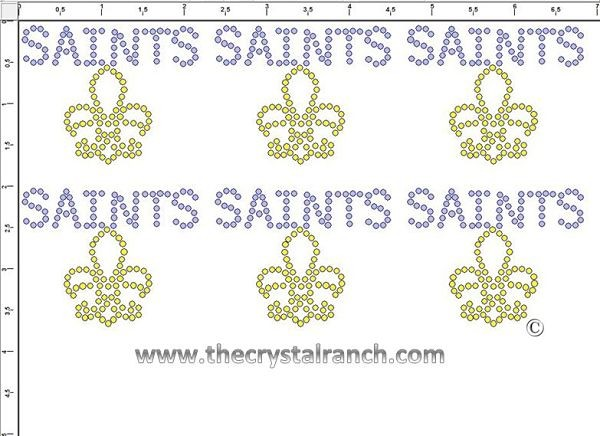 Saints - Petite (6) Rhinestone Transfer CRK122cs