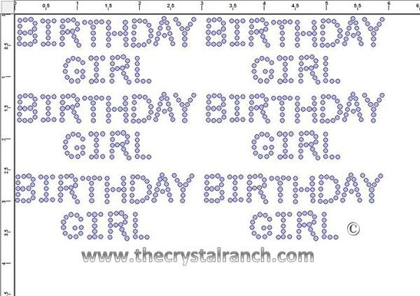 Birthday Girl - Petite (6) Rhinestone Transfers CRK025