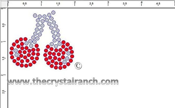 Cherries Rhinestone Transfer CRY210ck