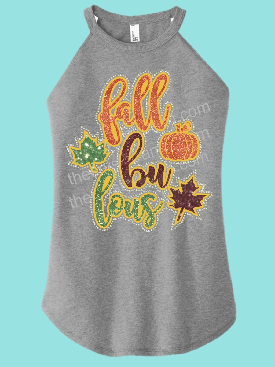 Fall Bu Lous Rhinestone and Glitter Tee THV067