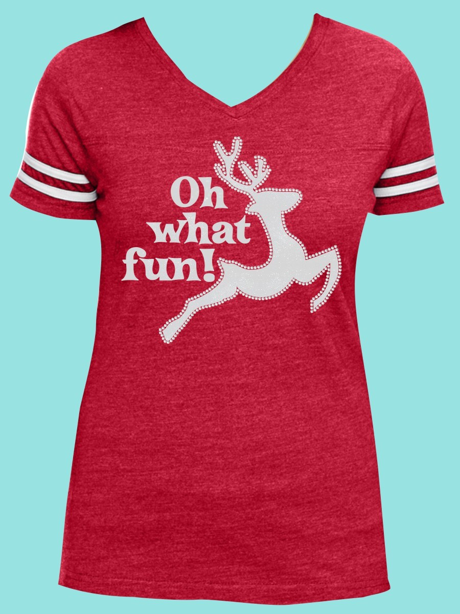 Oh What Fun Rhinestone and Glitter Tee THV006