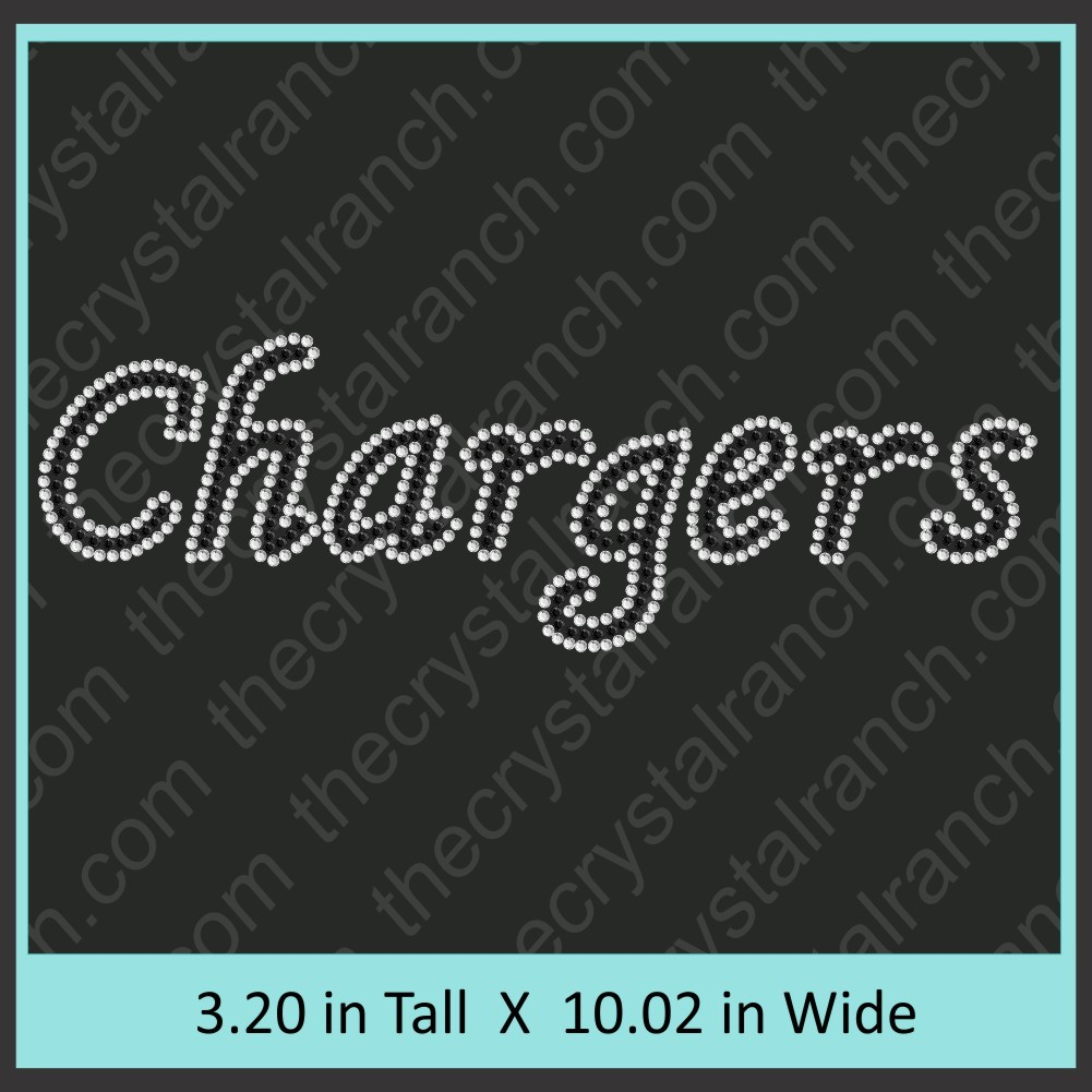Chargers Rhinestone Transfer CRT327