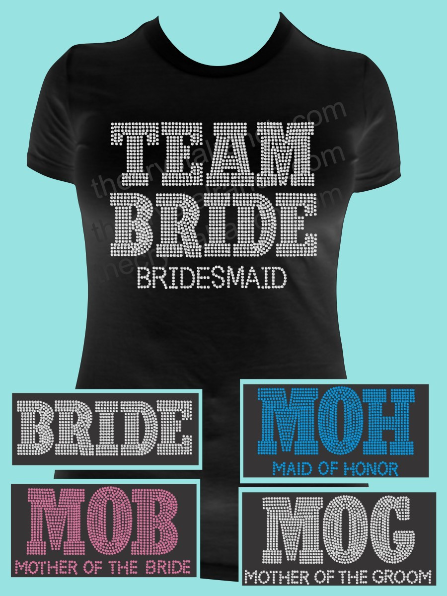 Team Bride Rhinestone Tee TF063