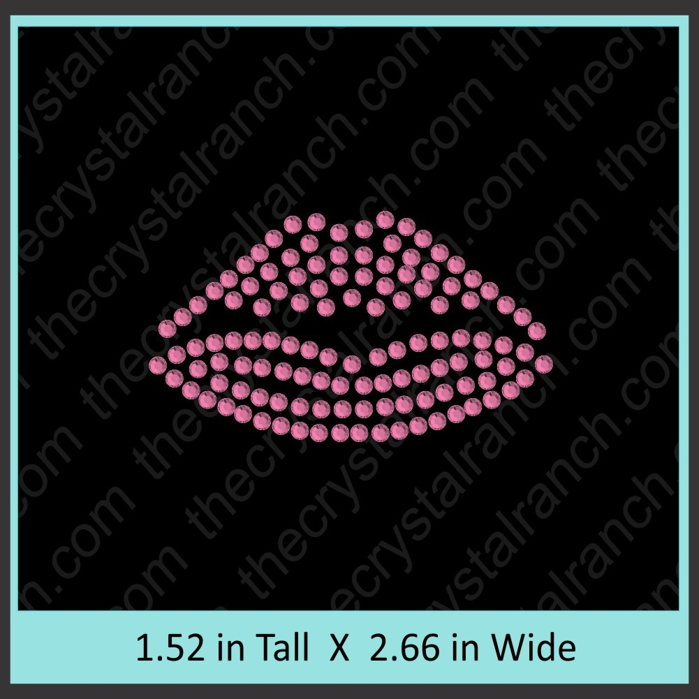 Lips Rhinestone Transfer CRY145