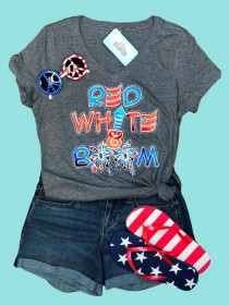 Red White and Boom Tee THV201