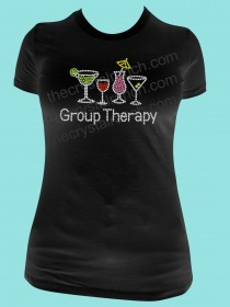 Group Therapy Cocktail Rhinestone Tee TB011