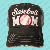 Baseball Mom Glitter Cap CTV020A