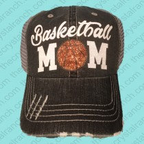 Basketball Mom Glitter Cap CTV020D