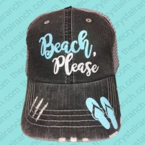 Beach Please Glitter Cap CGB002