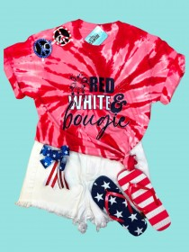 Red White and Bougie Tee THV204