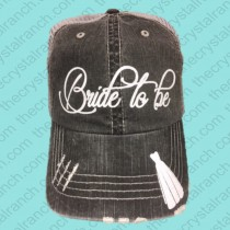 Bride to Be Glitter Cap CFW001