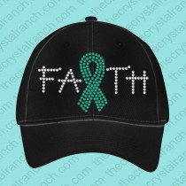 Faith Support Ribbon Rhinestone Cap CG114