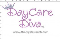 DayCare Diva Rhinestone Transfer CRF010