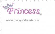 Princess Rhinestone Transfer CRF020