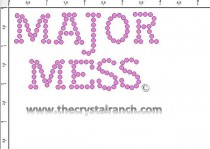 Major Mess Rhinestone Transfer CRF027