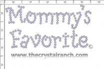 Mommy's Favorite Rhinestone Transfer CRF029A