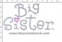 Big Sister Rhinestone Transfer CRF033