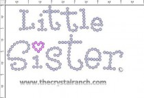 Little Sister Rhinestone Transfer CRF034