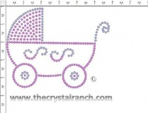 Baby Carriage Rhinestone Transfer CRF038