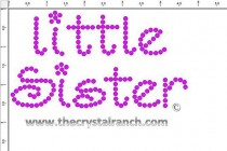 Little Sister Rhinestone Transfer CRF050