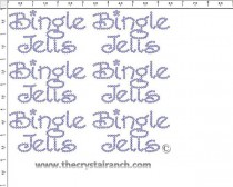 Bingle Jells - Petite (6) Rhinestone Transfer CRK033