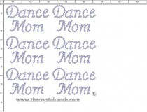 Dance Mom - Petite (6) Rhinestone Transfer CRK044