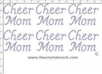 Cheer Mom - Petite (6) Rhinestone Transfer CRK047