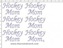 Hockey Mom - Petite (6) Rhinestone Transfer CRK050