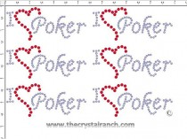 I Love Poker - Petite (6) Rhinestone Transfer CRK059cs