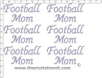 Football Mom - Petite (6) Rhinestone Transfer CRK090
