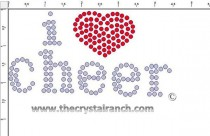 i love cheer Rhinestone Transfer CRS069c