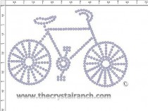 Bike Rhinestone Transfer CRS257