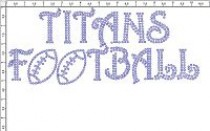Any Team Name Football Rhinestone Transfer CRT366