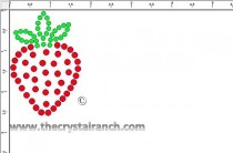 Strawberry Rhinestone Transfer CRY155k
