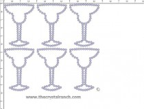 Margarita Glass Rhinestone Transfer CRY248c
