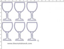 Wine Glass Rhinestone Transfer CRY249c