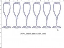Champagne Glass Rhinestone Transfer CRY250c