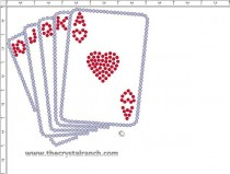 Deck of Cards Rhinestone Transfer CRY272ck