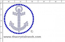 Anchor (Small) Rhinestone Transfer CRY053ck