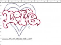 Love Heart Transfer CRY054
