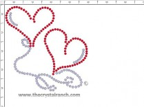Balloon Hearts Rhinestone Transfer CRY069ck