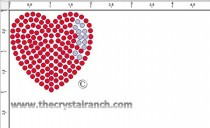 Heart Rhinestone Transfer CRY070ck