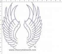 Wings Rhinestone Transfer CRY080c