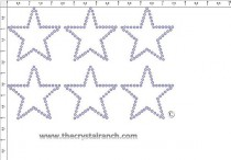Star 2.25in Outline Transfer CRY106