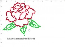 Rose Rhinestone Transfer CRY113k
